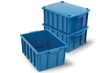 caixa plastica fechada 26 litros