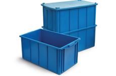 caixa plastica fechada 60 litros