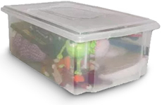 Caixa Plástica Organizadora Transparente 25 litros