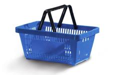 cestos plásticos de compras
