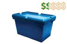 caixa plastica empilhavel 21 litros thumb