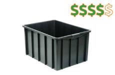 caixa plastica fechada 130 litros thumb