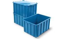 caixa plastica fechada 140 litros