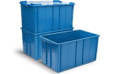 caixa plastica fechada 180 litros