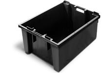 caixa plastica fechada 57 litros