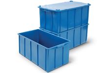 caixa plastica fechada 70 litros