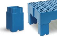 estrado plastico 40 x 80 x 15 cm