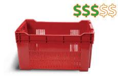 caixas plasticas vazadas 56x36x30 cm 1 thub