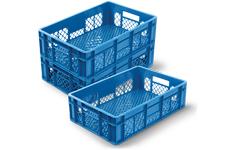 Caixas Plásticas Vazadas 60 x 40 x 15 cm