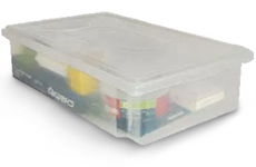 Caixa Plástica Organizadora Transparente 15 litros
