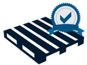 imagem de um pallet com selo de certificação
