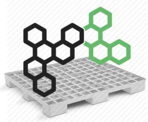 imagem que mostra composto químico junto de um pallet de plástico para ilustrar as possibilidades de matéria-prima para fabricar paletes de plástico