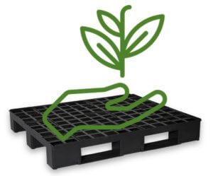 pallets de plastico são sustentáveis e recicláveis