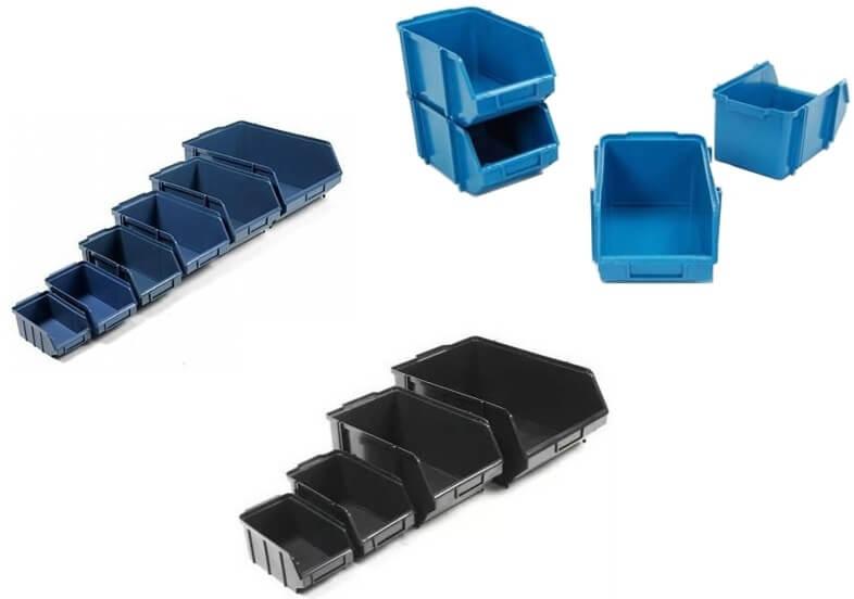 Imagem ilustrativa de caixas plásticas para almoxarifado