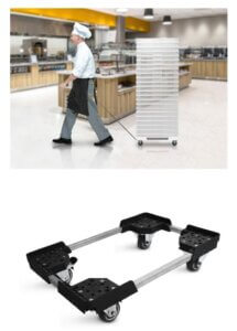 carrinho para caixa de massa de pizza