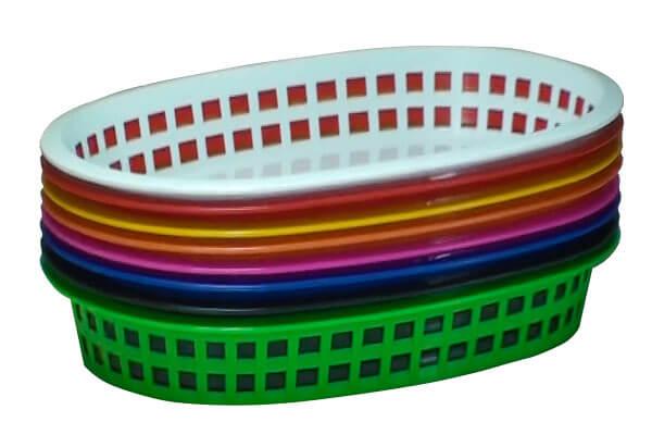 cesta de plastico telada oval