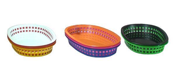 cesta plastica oval telada cores