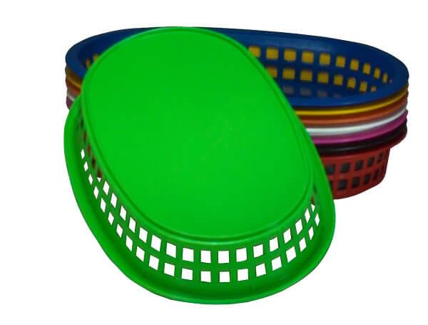 cesta plastica oval telada fundo
