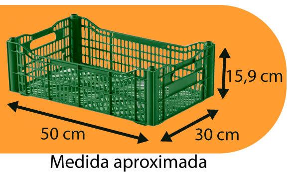 caixa plástica semi descartável medidas